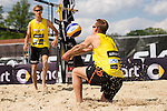 08.05.2015, Muenster, Schlossplatz<br /> smart beach tour, Supercup M&uuml;nster / Muenster, Qualifikation<br /> <br /> Annahme Max-Jonas Karpa<br /> <br />   Foto &copy; nordphoto / Kurth