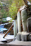 Winter landscape at Cedar Falls State Park Ohio