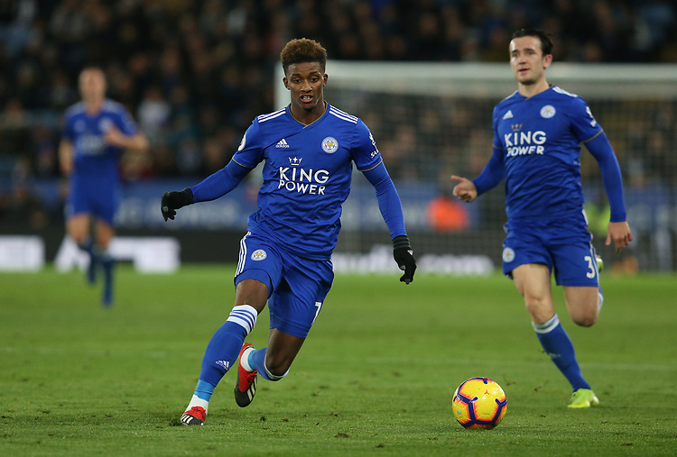Leicester City's Demarai Gray <br /> <br /> Photographer Stephen White/CameraSport<br /> <br /> The Premier League - Leicester City v Watford - Saturday 1st December 2018 - King Power Stadium - Leicester<br /> <br /> World Copyright © 2018 CameraSport. All rights reserved. 43 Linden Ave. Countesthorpe. Leicester. England. LE8 5PG - Tel: +44 (0) 116 277 4147 - admin@camerasport.com - www.camerasport.com