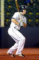 Huntsville Stars third baseman Mike Walker #21 during a game against the Tennessee Smokies on April 16, 2013 at Joe W Davis Municipal Stadium in Huntsville, Alabama.  Tennessee defeated Huntsville 4-3.  (Mike Janes/Four Seam Images)