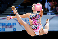 September 8, 2015 - Stuttgart, Germany -  ALEXANDRA PISCUPESCU of Romania performs during AA qualifications at 2015 World Championships.
