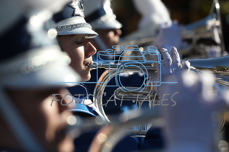 The Carson High School Marching Band performs in the annual Nevada Day Parade in Carson City, Nev., on Saturday, Oct. 28, 2011..Photo by Cathleen Allison