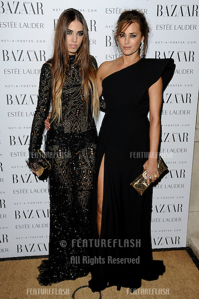 Amber and Yasmin Le Bon arriving for the Harpers Bazaar Women of the Year Awards 2011 at Claridges, London. 07/11/2011 Picture by: Steve Vas / Featureflash