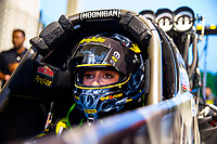 May 4, 2018; Commerce, GA, USA; NHRA top fuel driver Leah Pritchett during qualifying for the Southern Nationals at Atlanta Dragway. Mandatory Credit: Mark J. Rebilas-USA TODAY Sports