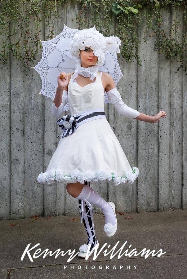 Doll from Black Butler Book of Circus Cosplay, Sakura Con, Seattle, WA, USA.