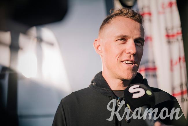 pre-race interview by Serge Pauwels (BEL/Dimension Data)<br /> <br /> MEN ELITE ROAD RACE<br /> Kufstein to Innsbruck: 258.5 km<br /> <br /> UCI 2018 Road World Championships<br /> Innsbruck - Tirol / Austria