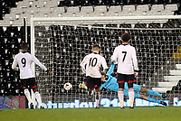 Moussa Dembele scores Fulham's opening goal from the penalty spot
