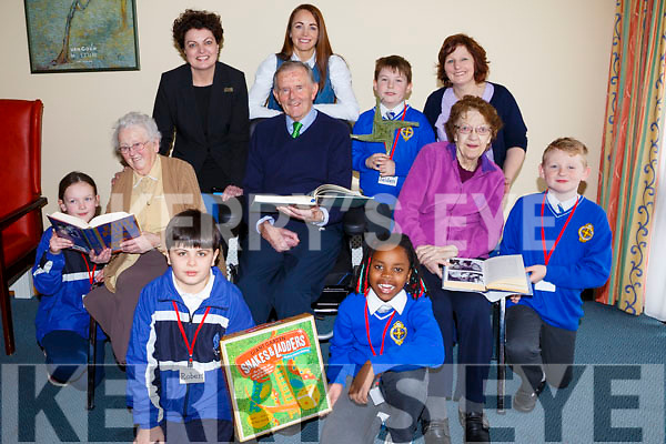 Students from CBS Primary school&rsquo;s &ldquo;The Sean&oacute;ige Club&rdquo;, visit the Fatima Nursing Home on a weekly basis to engage in a range of activities with the residents. <br /> Kneeling front are Robert Mustafa and Malidi Hlongwane. Middle row l to r: Caragh McGillicuddy, Sister Rose, Pat Crean, Rose Sheehy and Jack O&rsquo;Mahoney. Standing l to r: Annette Gaughan (Director of Nursing), Michelle Culloty (Teacher CBS), Jaden Ward Barrett and Helen Barrett.