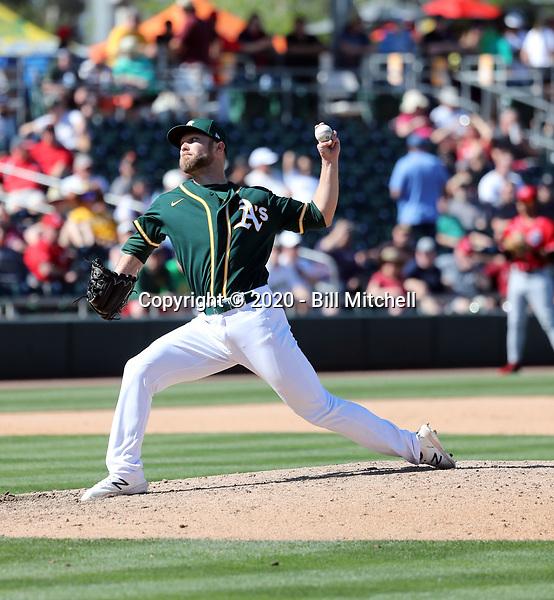 Cody Stull - Oakland Athletics 2020 spring training (Bill Mitchell)