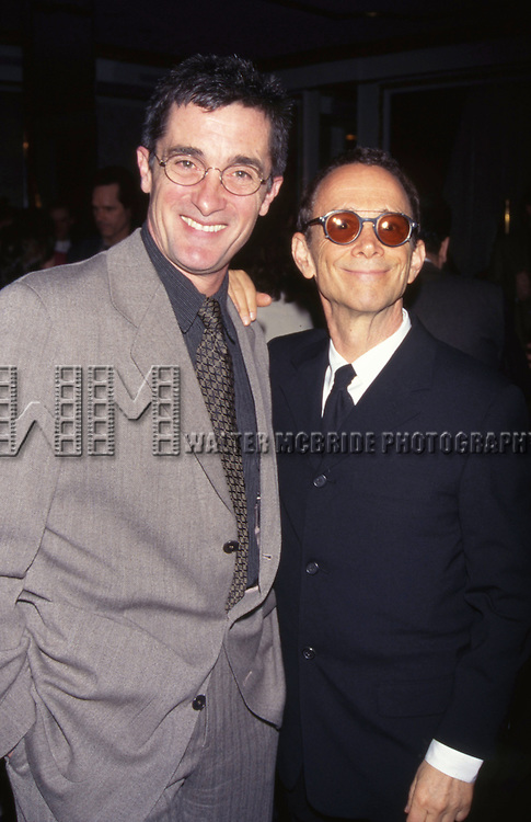 Roger Rees and Joel Grey posing attends the Drama League Awards luncheon t the Grand Ballroom on May 9, 1997 in New York City.