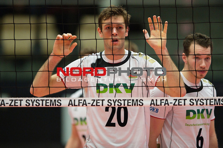 29.12.2013, Lotto Dome, Maaseik<br /> Volleyball, Belgien vs. Deutschland<br /> <br /> Philipp Collin (#20 GER)<br /> <br />   Foto &copy; nordphoto / Kurth