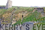 PASSAGE: The cliff face under the castle in Ballybunion which shows the location of the recently discovered passageway under the Castle Green.