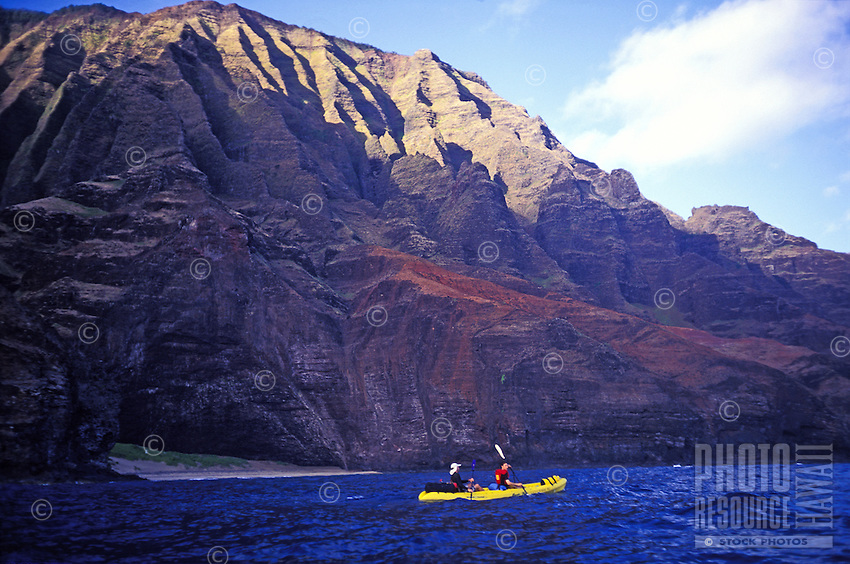 Kayaking the Napali coast, Kauai