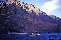 Kayaking the Napali coast, Kauai