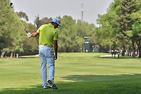 Rickie Fowler (USA) reacts to his miss hit on his approach shot on 4 during round 1 of the World Golf Championships, Mexico, Club De Golf Chapultepec, Mexico City, Mexico. 3/1/2018.<br /> Picture: Golffile | Ken Murray<br /> <br /> <br /> All photo usage must carry mandatory copyright credit (&copy; Golffile | Ken Murray)