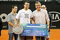SAO PAULO,SP, 29.11.2015 - TENIS-ATP - Inigo Cervantes vence o ATP Challenger Tour Finals, realizado no Esporte Clube Pinheiros, zona oeste da cidade de São Paulo, neste domingo, (29).  (Foto: Douglas Pingituro/Brazil Photo Press)