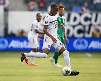KANSAS CITY, KS - JUNE 26: Kevan George #19 during a game between Guyana and Trinidad