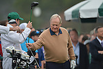 AUGUSTA, GA - APRIL 11: Jack Nicklaus prepares to tee off during the First Round of the 2013 Masters Golf Tournament at Augusta National Golf Club on April 10in Augusta, Georgia. (Photo by Donald Miralle) *** Local Caption ***
