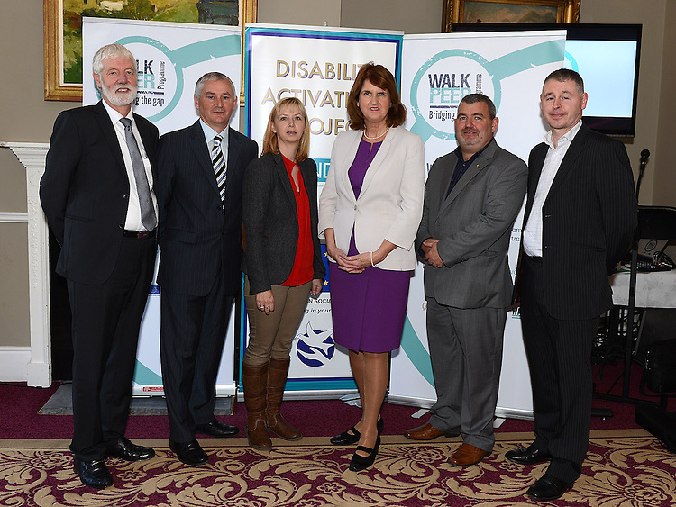 Chairperson of the board of WALK John Bourke, Austin O'Sullivan Director of Resources, Catherine Kelly  Director of Services for WALK, Joe Mason CEO of WALK and Eamon McTague Director of Residental Services at the launch of the Walk Peer Programme in Bellingham Castle hotel. Photo:Colin Bell/pressphotos.ie