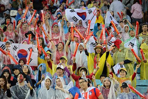 26.01.2015.  Sydney, Australia. AFC Asian Cup Semi Final. Korea Republic v Iraq. Fans before the game.Korea won the game on 2-0.