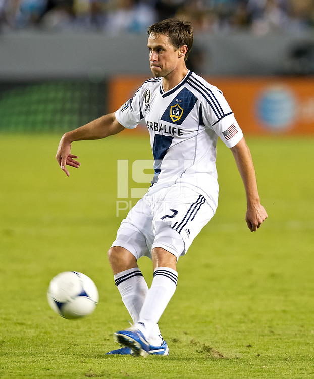 CARSON, CA - November 1, 2012: LA Galaxy vs the Vancouver Whitecaps FC at the Home Depot Center in Carson, California. Final score LA Galaxy 2, Vancouver Whitecaps FC 1.