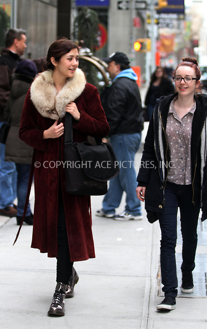 WWW.ACEPIXS.COM . . . . .  ....April 1 2012, New York City....'The Killing' actresses Katie Findlay (L) and Kacey Rohl stroll in Soho on April 1 2012 in New York City....Please byline: CURTIS MEANS - ACE PICTURES.... *** ***..Ace Pictures, Inc:  ..Philip Vaughan (212) 243-8787 or (646) 769 0430..e-mail: info@acepixs.com..web: http://www.acepixs.com