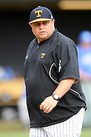 Head Coach Dave Serrano during a  game against the Kentucky Wildcats at Lindsey Nelson Stadium on March 24, 2012 in Knoxville, Tennessee. The game was suspended in the bottom of the 5th with the Wildcats leading 5-0. Tony Farlow/Four Seam Images.