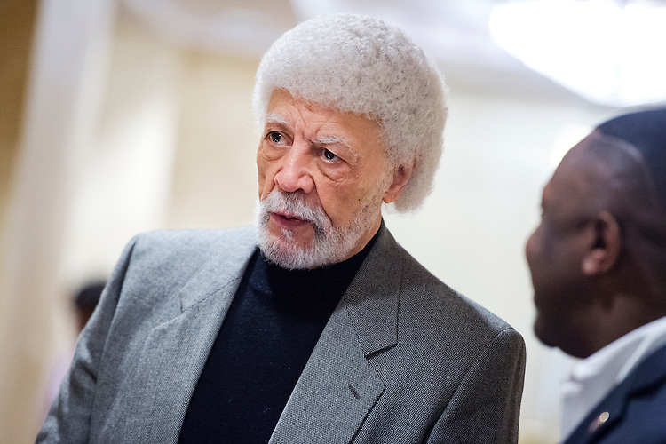 UNITED STATES - JANUARY 20: Former Rep. Ron Dellums, D-Calif., attends the U.S. Conference of Mayors 84th Winter Meeting being held at the Capitol Hilton, January 20, 2016. (Photo By Tom Williams/CQ Roll Call)