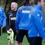 Ally McCoist having a nightmare at training as the players keep putting him in the middle