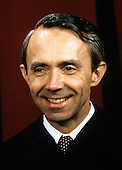 Associate Justice of the United States Supreme Court David H. Souter poses for a photo during a photo-op at the U.S. Supreme Court in Washington, D.C. on Tuesday, September 11, 1990.  Souter was appointed in 1990 by U.S. President George H.W. Bush..Credit: Robert Trippett / Pool via CNP