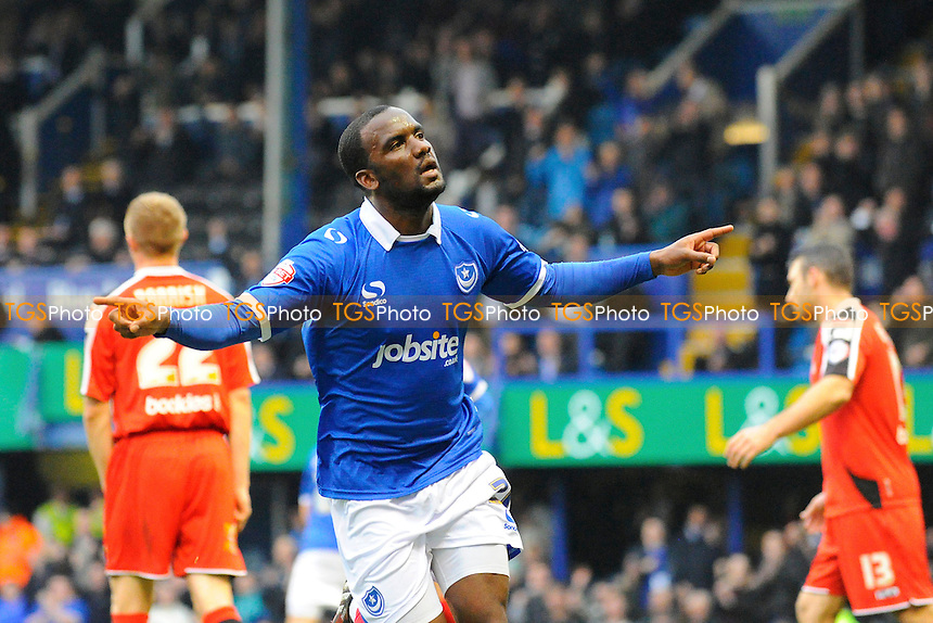 Craig Westcarr of Portsmouth celebrates his goal - Portsmouth vs Morecambe - Sky Bet League Two Football at Fratton Park, Portsmouth, Hampshire - 22/11/14 - MANDATORY CREDIT: Denis Murphy/TGSPHOTO - Self billing applies where appropriate - contact@tgsphoto.co.uk - NO UNPAID USE