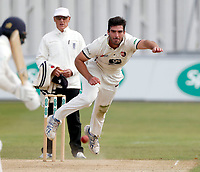 Grant Stewart bowls for Kent during the Specsavers County Championship division two game between Kent and Glamorgan at the St Lawrence Ground, Canterbury, on Sept 18, 2018