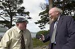 JACKIE HEALY-RAE KILLARNEY 6-9-01<br />Sunday world reporter Sean Boyne interviews South Kerry TD Jackie Healy-Rae in Killarney.<br />Picture by Don MacMonaglev