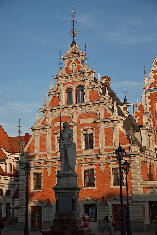 House of Blackheads in Old Town Square, Riga, Latvia