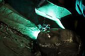 Gliwice, Poland, March 4, 2011:.Welding the pope monument at the GZUT factory that specializes in making the bronze monuments..(Photo by Piotr Malecki / Napo Images)..Gliwice, 4/03/2011:.Kazimierz Janicki, pracownik odlewni GZUT, ktory pracuje nad nowym pomnikiem papieza Jana Pawla II.Fot: Piotr Malecki / Napo Images