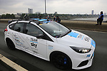 Team Sky Ford Focus RS crosses the Rhine during Stage 2 of the 104th edition of the Tour de France 2017, running 203.5km from Dusseldorf, Germany to Liege, Belgium. 2nd July 2017.<br /> Picture: Eoin Clarke | Cyclefile<br /> <br /> <br /> All photos usage must carry mandatory copyright credit (&copy; Cyclefile | Eoin Clarke)