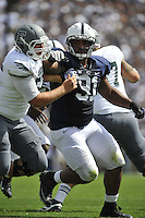 07 September 2013:  Penn State DT DaQuan Jones (91). The Penn State Nittany Lions defeated the Eastern Michigan Eagles 45-7 at Beaver Stadium in State College, PA.