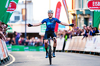 Picture by Alex Whitehead/SWpix.com - 26/05/2018 - Cycling - OVO Energy Tour Series Men's Race - Round 5: Aberystwyth - Harry Tanfield of Canyon Eisberg wins.