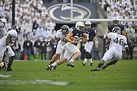 06 October 2012:  Penn State RB Zach Zwinak (28). The Penn State Nittany Lions defeated the Northwestern Wildcats 39-28 at Beaver Stadium in State College, PA.
