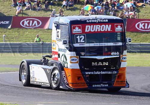 28.08.2015. Most, Czech Republic. FIA European Truck Racing Championship. Czech Truck Prix.<br /> Ellen LOHR (GER), MAN, Truck Sport Lutz Bernau,