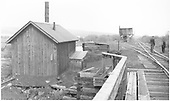 Castleton pump house from bridge 15-A looking south toward the water tank.<br /> D&amp;RGW  Castleton - Baldwin Branch, CO  Taken by Rogers, Donald E. A. - 6/1/1939