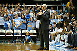 30 December 2015: UNC head coach Roy Williams. The University of North Carolina Tar Heels hosted the Clemson University Tigers at the Dean E. Smith Center in Chapel Hill, North Carolina in a 2015-16 NCAA Division I Men's Basketball game. UNC won the game 80-69.