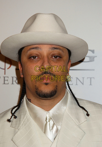 VINDETTA.Sony BMG Grammy Party 2005 held at the Roosevelt Hotel, Los Angeles, California.February 12th, 2005.Photo Credit: Laura Farr/AdMedia.headshot portrait white hat goatee mustache facial hair braids plaits.www.capitalpictures.com.sales@capitalpictures.com.© Capital Pictures.