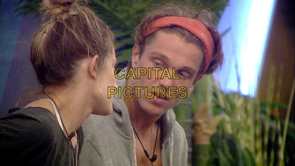Celebrity Big Brother, Summer 2016, Day 22<br /> Lewis Bloor and Katie Waissel.<br /> *Editorial Use Only*<br /> CAP/KFS<br /> Image supplied by Capital Pictures