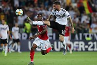 Marco Richter of Germany and Kevin Danso of Austria compete for the ball<br /> Udine 23-06-2019 Stadio Friuli <br /> Football UEFA Under 21 Championship Italy 2019<br /> Group Stage - Final Tournament Group B<br /> Austria - Germany<br /> Photo Cesare Purini / Insidefoto