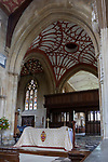 Interior of the priory church at Edington, Wiltshire, England, UK