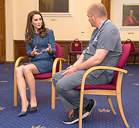 12 June 2017 - Princess Kate, Duchess of Cambridge and Clinical Director and Consultant in Emergency Medicine Dr Malcolm Tunnicliff  at Kings College Hospital in south London to meet staff and patients who were affected by the terrorist attacks in London Bridge and Borough Market London. Photo Credit: ALPR/AdMedia
