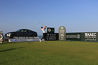 Matt Wallace (ENG) on the 16th during the Pro-Am of the Saudi International at the Royal Greens Golf and Country Club, King Abdullah Economic City, Saudi Arabia. 29/01/2020<br /> Picture: Golffile | Thos Caffrey<br /> <br /> <br /> All photo usage must carry mandatory copyright credit (© Golffile | Thos Caffrey)