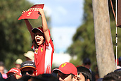 25th March 2018, Melbourne Grand Prix Circuit, Melbourne, Australia; Melbourne Formula One Grand Prix, race day; Young Vettel fan
