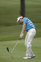 European Team player Ian Poulter plays 2nd shot from fairway on the 15th hole during the Morning Foursomes on Day 2 of the Ryder Cup at Valhalla Golf Club, Louisville, Kentucky, USA, 20th September 2008 (Photo by Eoin Clarke/GOLFFILE